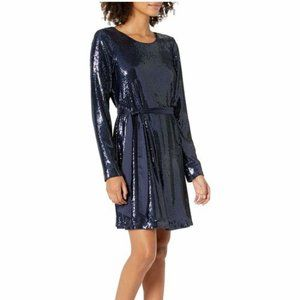 NWT Ramy Brook Hallie Sequin Belted Swing Dress